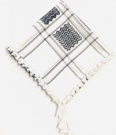 White Black Shimagh/Mens Scarf