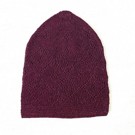 Turkey Sufi Knitting Cap Maroon