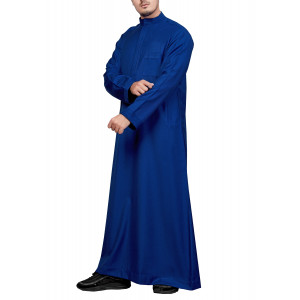 Royal Blue Pleated Thobe