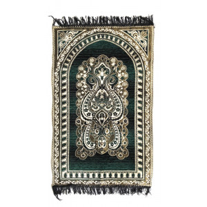 DARK GREEN MUSALLA/JANAMAZ/PRAYER MAT