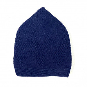 Turkey Sufi Knitting Cap Navy Blue