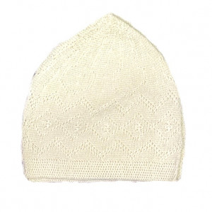 Turkey Sufi Knitting Cap Cream