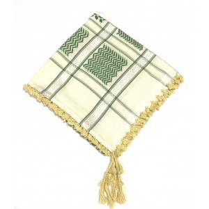 Cream Green Shimagh/Mens Scarf
