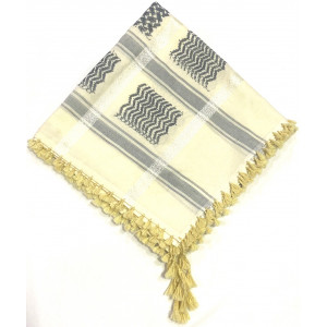 Cream Grey Shimagh/Mens Scarf