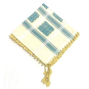 Cream Lite Green Shimagh/Mens Scarf