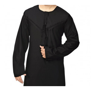 BLACK EMIRATI THOBE FOR BOYS