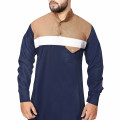 NAVY BLUE WITH BEIGE CHEST THOBE