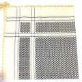 Cream Black Shimagh/Mens Scarf