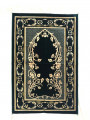 Velvet Islamic Prayer Rug Green